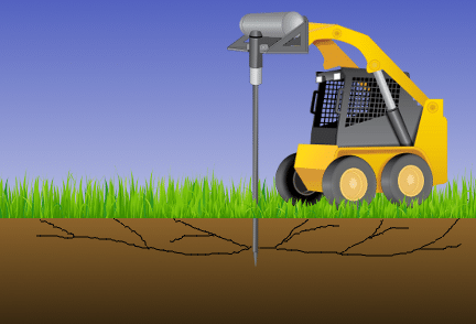 The EarthBuster uses compressed air to break up clogged/compacted soil, restoring the natural flow of liquids.